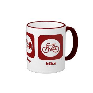 Coma. Sueño. Bici. Taza