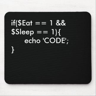 Coma. Sueño. Código Mouse Pads