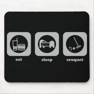 Coma. Sueño. Croquet. Mousepad