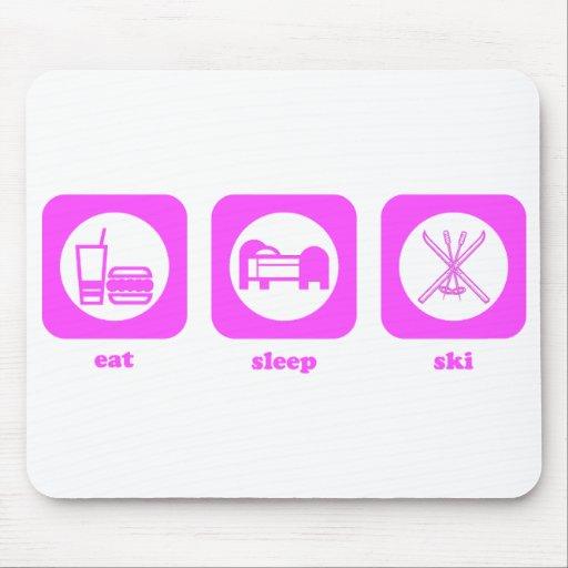 Coma. Sueño. Esquí. Mousepad Tapetes De Ratones