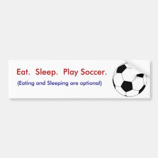 Coma.  Sueño.  Fútbol del juego Pegatina De Parachoque