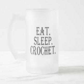 Coma. Sueño. Ganchillo. (taza) Taza De Cristal