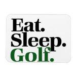 Coma. Sueño. Golf Imanes Rectangulares