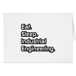 Coma. Sueño. Ingeniería industrial Tarjeta De Felicitación