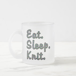 Coma. Sueño. Knit. Taza De Cristal