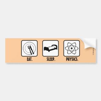 Coma. Sueño. La física Etiqueta De Parachoque