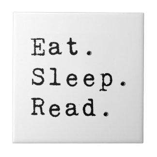 Coma. Sueño. Leído Azulejo Cuadrado Pequeño