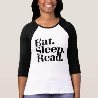 Coma. Sueño. Leído Camisetas