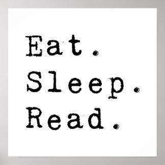 Coma. Sueño. Leído Póster