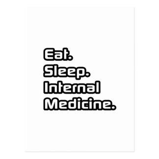 Coma Sueño Medicina interna Tarjeta Postal