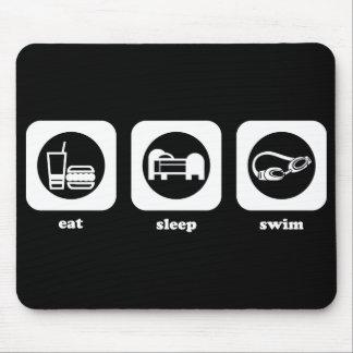 Coma. Sueño. Nadada. Mousepad