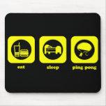 Coma. Sueño. Ping-pong. Mousepad Alfombrillas De Ratones