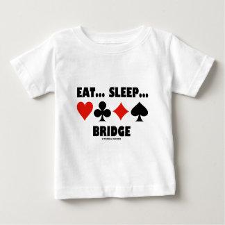 Coma… Sueño… Puente (juegos de la tarjeta del Playera De Bebé