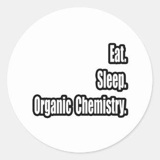 Coma. Sueño. Química orgánica Pegatina Redonda