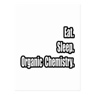 Coma. Sueño. Química orgánica Postales