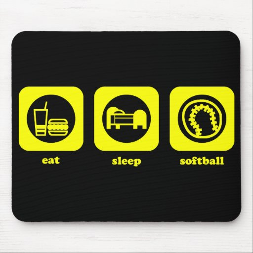Coma. Sueño. Softball. Mousepad