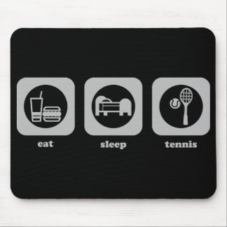 Coma. Sueño. Tenis. Mousepad