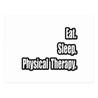 Coma. Sueño. Terapia física Postal