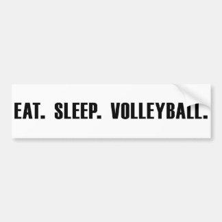 Coma. Sueño. Voleibol. Pegatina para el parachoque Pegatina Para Auto