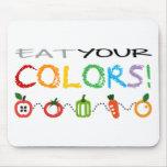 Coma sus colores alfombrillas de raton