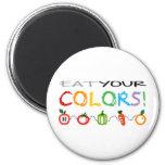 ¡Coma sus colores! Iman