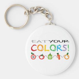 ¡Coma sus colores! Llavero Redondo Tipo Pin