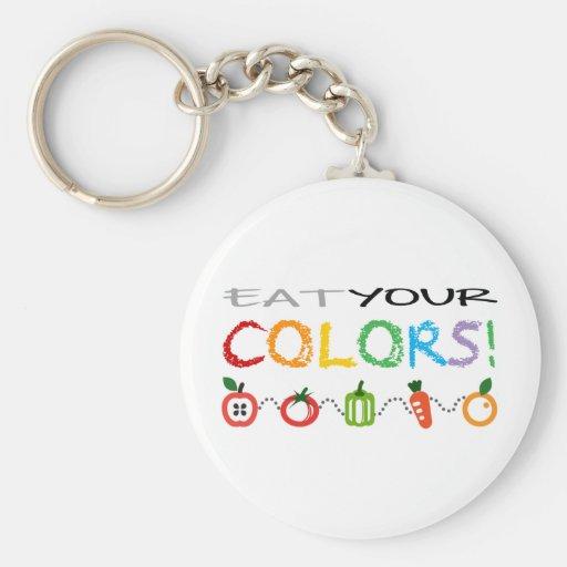 ¡Coma sus colores! Llavero