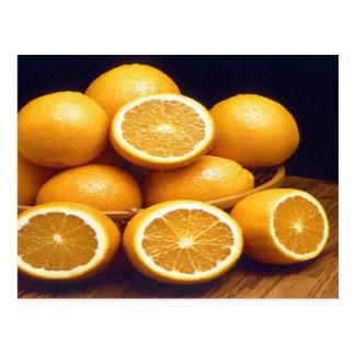 Coma sus naranjas tarjetas postales