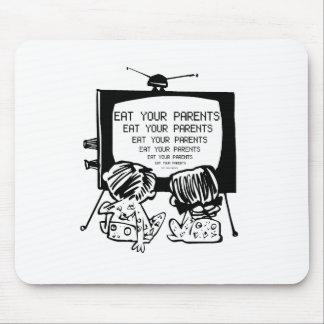 COMA SUS PADRES HYPNO TV - retro divertido Mouse Pad
