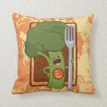 ¡Coma sus veggies! Almohadas