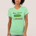 Coma sus Veggies dan a GUISANTES una camiseta de Remera
