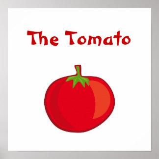 Coma sus Veggies el poster del cuadrado del tomate