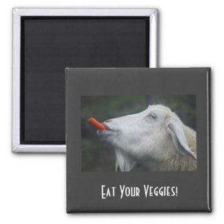 ¡Coma sus Veggies! Imán Cuadrado