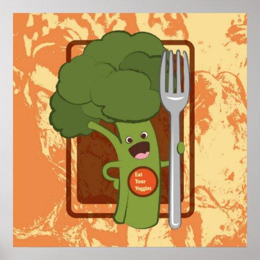 ¡Coma sus veggies! Impresiones