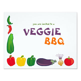 Coma sus Veggies que el Bbq del Veggie invita a 2 Invitacion Personalizada