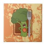¡Coma sus veggies! Tejas Cerámicas