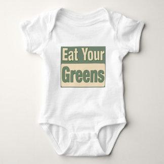 Coma sus verdes playeras