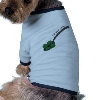 Coma sus verdes camisa de mascota