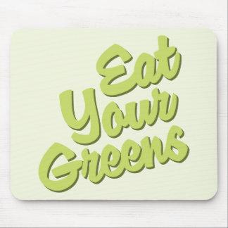 Coma sus verdes tapete de ratones