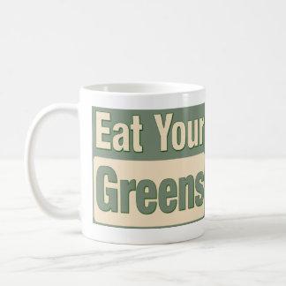 Coma sus verdes taza