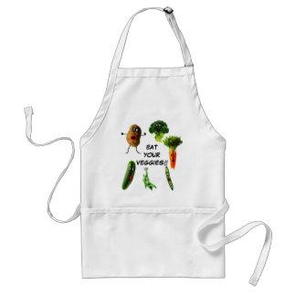 Coma sus verduras delantal