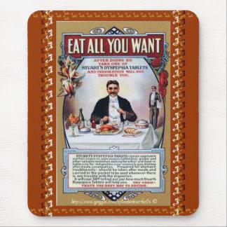 Coma todos lo que usted quiere-Stuarts la tableta Tapete De Ratones