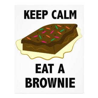 Coma un brownie plantillas de membrete