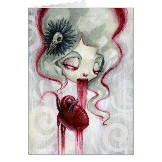 Coma un corazón, gane su amor tarjeta pequeña
