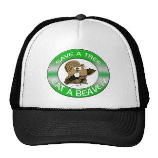 Coma un gorra del castor