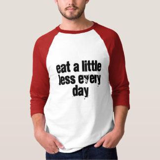 Coma un poco menos cada día playera