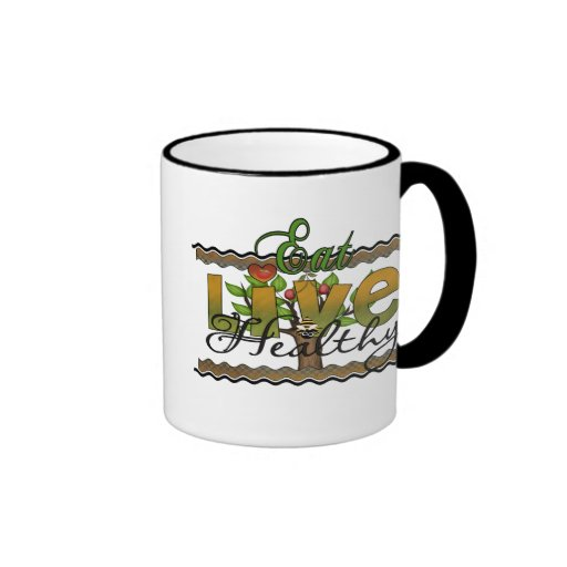 Coma y viva sano taza
