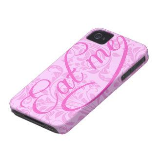 cómame - escritura (el damasco rosado) iPhone 4 carcasas