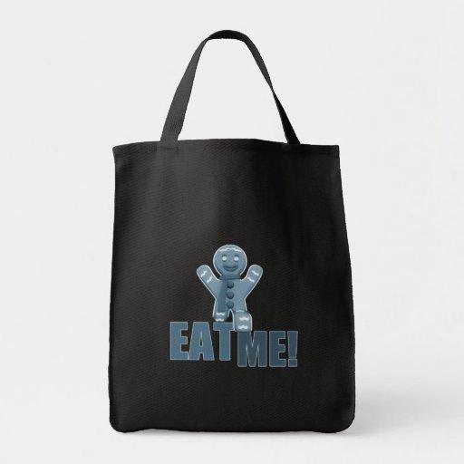 ¡CÓMAME! Hombre de pan de jengibre - azul Bolsa De Mano