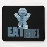 ¡CÓMAME! Hombre de pan de jengibre - azul Tapetes De Raton